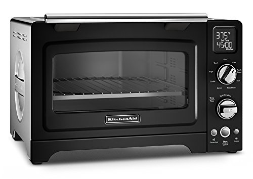 "KitchenAid KCO275OB Convection 1800W Digital Countertop Oven, 12"", Onyx Black"