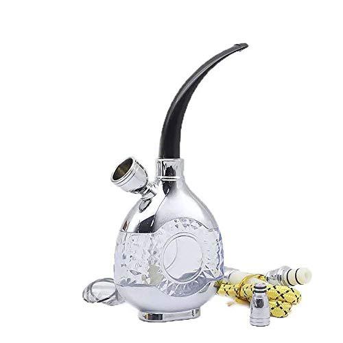 BGSFF Juego de Hookah portátil, Pipa de Agua para Fumar Mini Hookah portátil Shisha Tubos de Soporte para Cigarrillos de Tabaco con Filtro de Tubo para Fumar Mejor Narguile Shisha, B