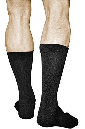 vitsocks 2 Paar Herren Wollsocken mit 80prozent MERINO WOLLE warm weich atmungsaktiv, schwarz, 44-46