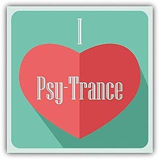 "I Love PSY-Trance Heart Music Window Truck Car Bumper Sticker Decal 5"" x 5"""
