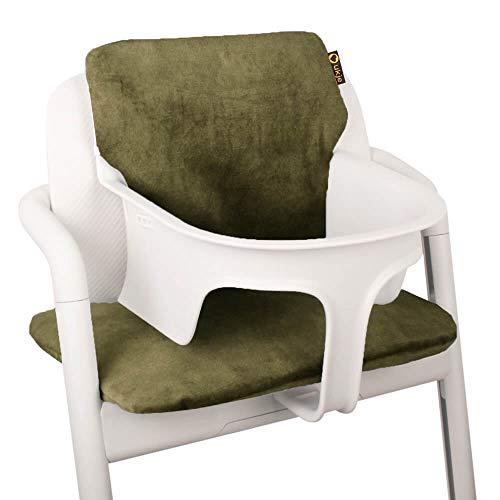 Ukje - Cojin Para Tronas de Bebe Cybex Lemo 2 Piezas Funda Silla OEKO TEX Standard 100 Funda Cojin Terciopelo Práctico Fácil de Limpiar Verde