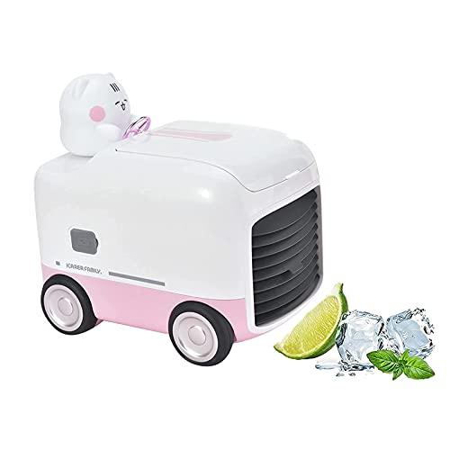 NGLSCXR Mini Aire acondicionado de pato lindo portátil, refrigerador de aire de escritorio inalámbrico USB recargable, refrigerador de aire con 3 velocidades, mini evaporativo, hogar, habitación, auto
