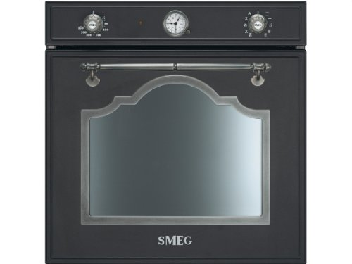 SMEG Cortina SF750AS Einbau-Backofen, 72 liters, anthrazit/altsilbern