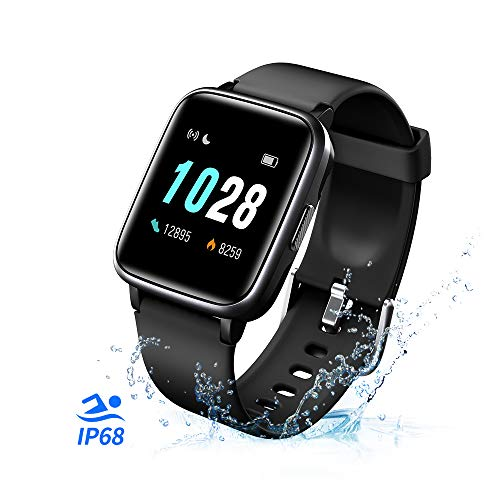 T-CORE Fitness Tracker Smart Watch, Activity Tracker with Heart Rate Monitor, IP68 Waterproof Fitness Band with 14 Sports Modes, Step, Calorie Counter, Pedometer Watch for Kids Women and Men -Black