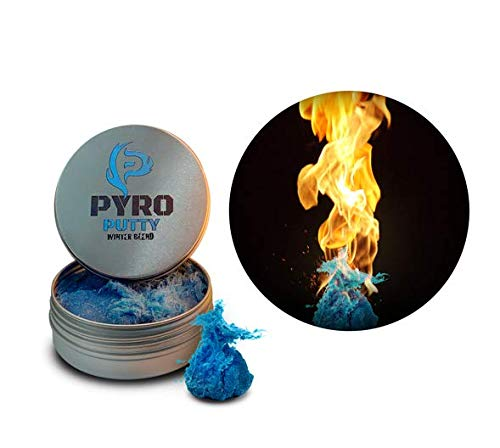 Phone Skope PYRO Putty Winter, Summer, Eco Blend, Emergency Survival Fire Starter (2 oz Blue Winter Blend -20°F to 70°F)