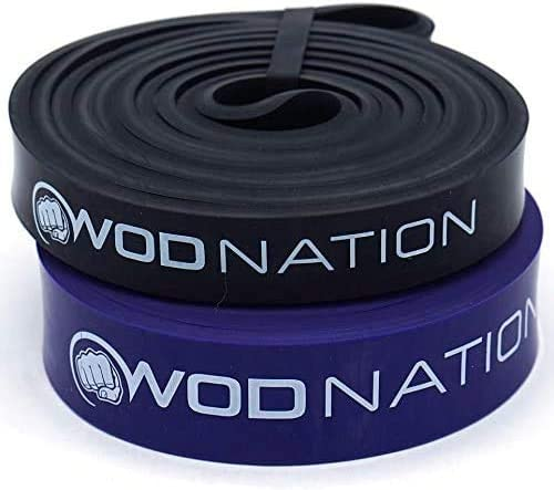Pull up Assistance Band Set by WOD Nation Best for Pullup Assist Chin Ups Resistance Band Exercise product image