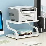 PUNCIA Office - Escáner multifunción láser de escritorio con almohadillas antideslizantes para organizador de escritorio, estante doble para plantas de microondas (marrón)