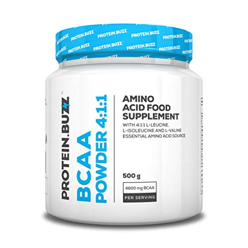 2 x Protein Buzz BCAA Powder 4:1:1, 500g Dose (2er Pack)