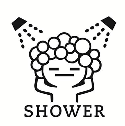 Grappige muurstickers badkamer glazen deur stickers schattige kinderen meisje douche sticker waterdicht verwijderbare vinyl decor sticker, HM03169