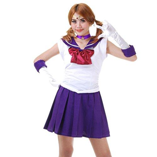 Hotaru Tomoe Sailor Saturn Kostüm Japanische Schuluniform Baumwolle L