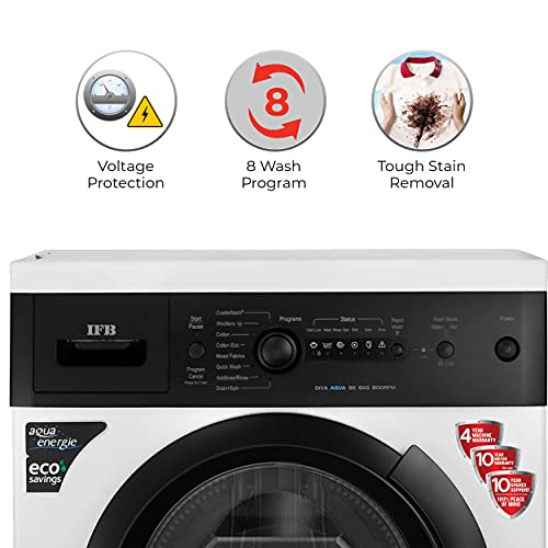 IFB 6 kg 5 Star Fully-Automatic Front Loading Washing Machine (Diva Aqua BX, White|Black matte, Aqua Energie,Crescent Moon Drum,Laundry... 5