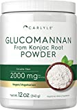 Glucomannan Powder | 12 oz | Vegan & Vegetarian | Non-GMO, Gluten Free | Konjac Powder Supplement | by Carlyle
