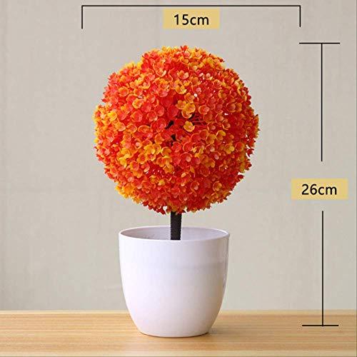 GJJDF Kunstpflanze für Pflanzen, Bonsai, Kunststoff, Blumen, Gras, Hochzeit, Weihnachten, Balkon, Topfpflanzen, Herbstdekoration, B-5