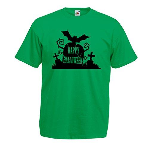 Camisetas Hombre Cementerio de Halloween: Ideas para Disfraces, Ropa Fresca y diseño Aterrador. Noche de Todos los Santos (Large Verde Multicolor)