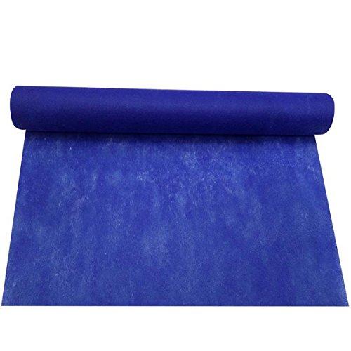 Chemin de table intissé bleu foncé 30 cm x 5 m
