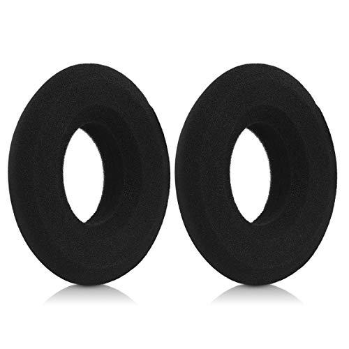 kwmobile Almohadillas Compatible con Grado Labs SR60/SR80/SR125/SR225/M1/M2 - Set de Almohadillas de Espuma para Cascos en Negro