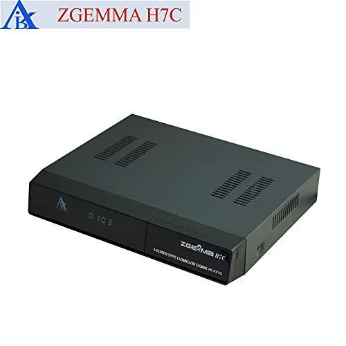 Zgemma H7C - Decodificador Combo UHD 4K con sintonizador 1x DVB-S2X, 1x DVB-T2/C, 1x DVB-C e IPTV