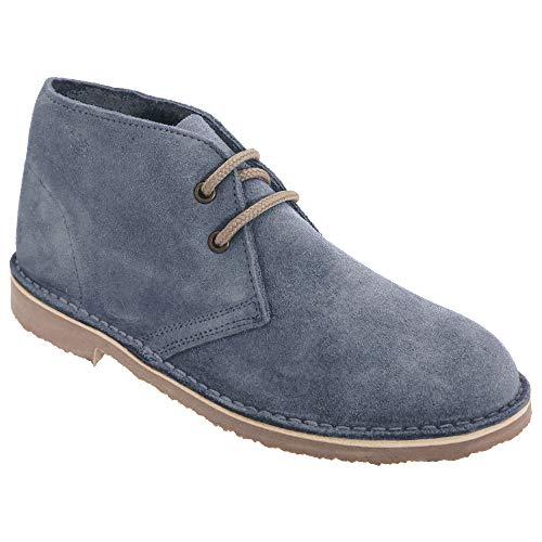 Roamers Damen Desert Boots/Wüstenstiefel/Schuhe, Wildleder, ungefüttert (40 EU) (Denim Blau)