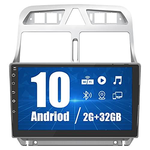 AWESAFE Android 10.0 [2GB+32GB] Radio Coche para Peugeot 307 SW CC 2002-2013, 9 Pulgadas Pantalla Táctil,Autoradio con WIFI/Bluetooth/GPS/FM/RDS/USB/RCA, Apoyo Mandos Volante, Aparcamiento, Mirrorlink
