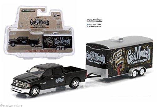 New 1:64 HITCH & TOW SERIES 5 - BLACK GAS MONKEY GARAGE 2014 RAM 1500 CAR HAULER Diecast Model Car B - coolthings.us