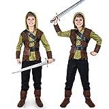 YJPQ Disfraz Traje De Halloween para 3 Personas Peter Pan Robin Hood Green Elf Familia Cosplay Accesorios De Fiesta Ropa Unisex para Niñas Niños Moda Adultos,Kids,XL