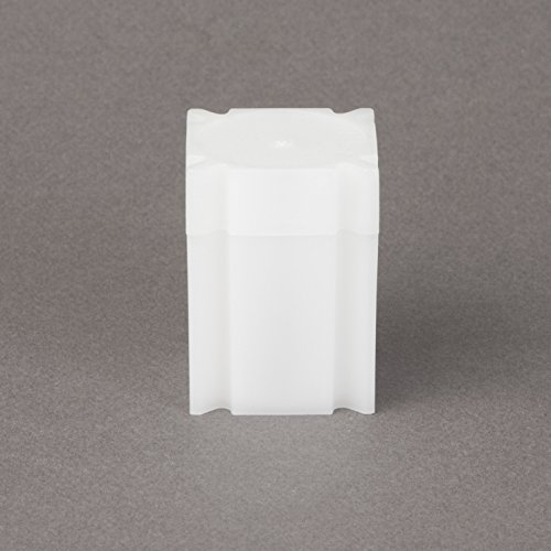 (100) Coinsafe Brand Square White Plastic (Half Dollar) Size Coin Storage Tube Holders