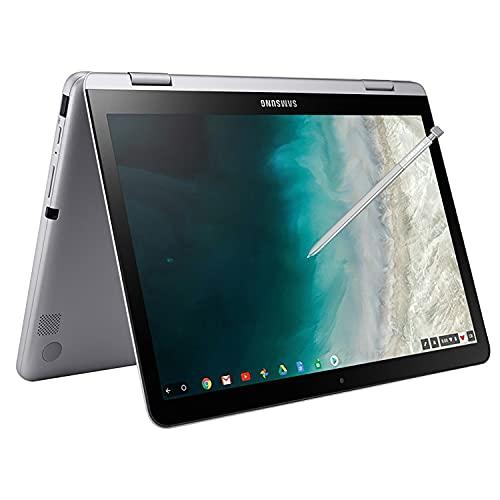 "Samsung Chromebook Plus 12.2"" FHD WUXGA Touchscreen 2-in-1 Laptop Computer, Intel Celeron 3965Y Processor, 4GB RAM, 64GB eMMC, 802.11AC WiFi, Chrome OS, Digital Pen, iPuzzle 64GB SD Card"