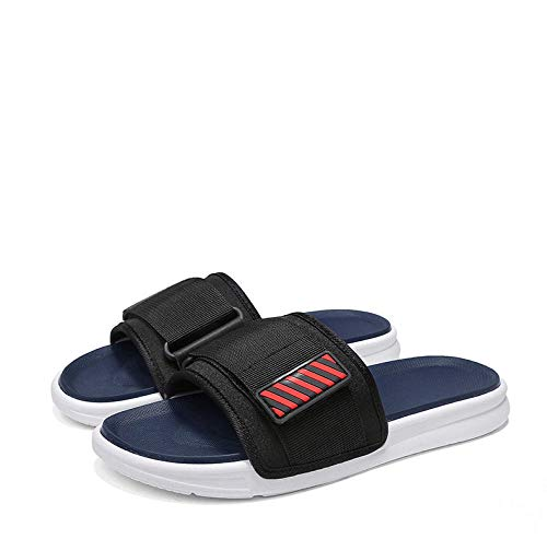 B/H Easy Close Hombre Zapatos,Zapatillas correctivas Ajustables, Chanclas con Hebilla mágica-Blue_40,Calzado Ortopédico Ajustable