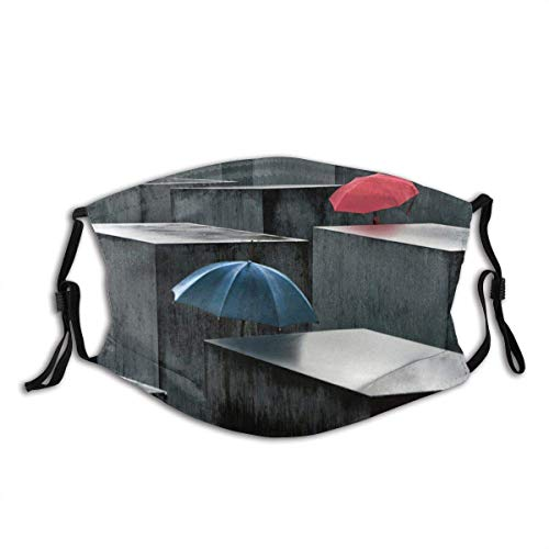 Mundschutz Face Cover Umbrellas Berlin Holocaust Memorial Germany Umbrella Architecture Abstract Raining Wet Geometry Windproof Mouth Cover Outdoor Neck Gaiter