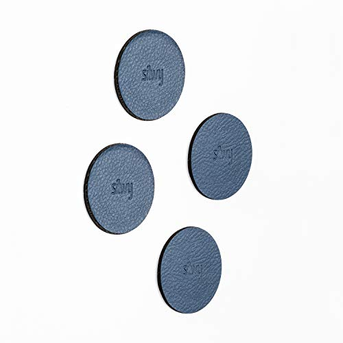 silwy Metall-Nano-Gel-Pads Blue in Lederoptik, Zubehör für Magnete, Türstopper, Magnetpinwand