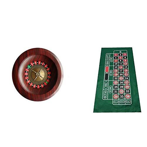 XZPZ 12-Zoll-Roulette-Tisch-Set, Holzplattenspieler Roulette-Tisch-Set, Unterhaltung Und Freizeit Unterhaltung Tischspiele Auf Erwachsene Kinder-Tombola Bar, KTV