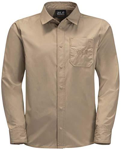 Jack Wolfskin Lakeside Shirt Enfants T-Shirt Enfant Sand Dune FR : XXS (Taille Fabricant : 140)