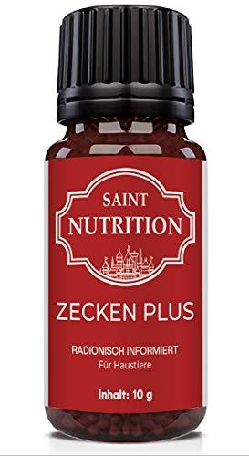 Saint Nutrition® Zecken Plus Globuli für Hunde & Katzen - zum entfernen das Mittel gegen Befall | 10g