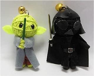 Yoda & Darth Vader Set Voodoo String Doll Keychain
