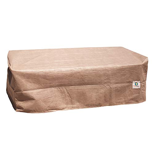 Duck Covers Elite Water-Resistant 52 Inch Rectangular Patio Ottoman/Side Table Cover