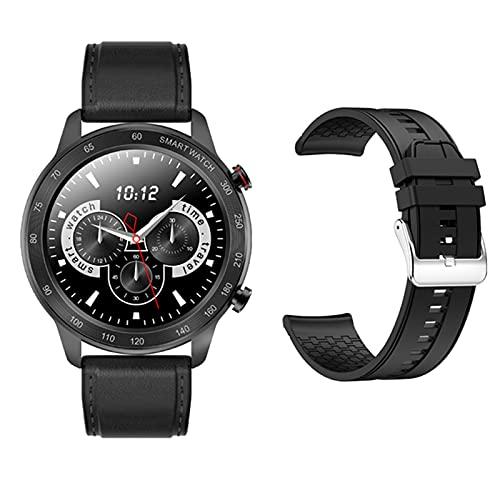 ZRY Reloj Inteligente para Hombres Y Mujeres MX5 Monitoreo del Sueño con Ritmo Cardíaco Bluetooth Call Music Player Pedómetro Reloj De Seguimiento De Movimiento para Android iOS,D