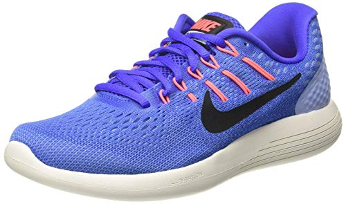 NIKE Women's Lunarglide 8 Running Shoe (5 B(M) US, Medium Blue/Black Aluminum)