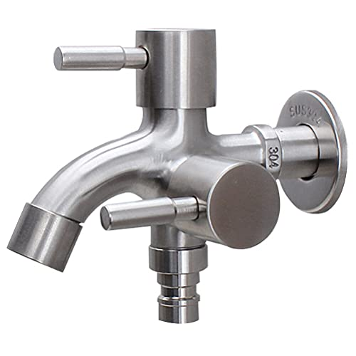 HYRGLIZI 304 Múltiples usos de Acero Inoxidable Alargado uno en Dos out Multi Funcional Doble Outlet Lavadora Net Boquilla Faucet