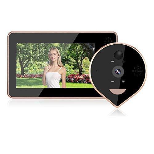Mirilla digital 4.3inches 720P Pantalla colorida WIFI Visor digital Timbre de puerta...