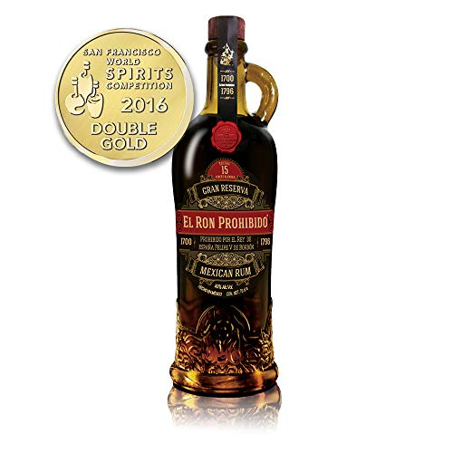 El Ron Prohibido 15 Years Old Solera Finest Blended Mexican Rum Reserva (1 x 0.7 l)