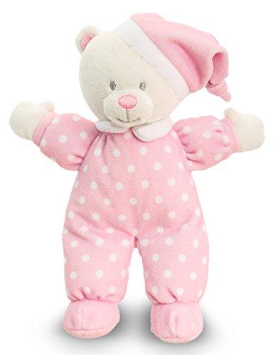 Lashuma Keel Baby Plüschtier Bär mit Mütze Rosa, Kuscheltier Bärchen 22 cm