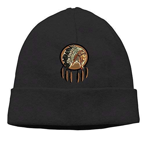 Beanie Knit Hat Ski Caps Colorful Doodle Eagle Mens DeepHeather