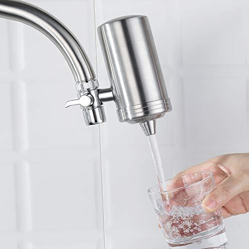 Rubinetto depuratore acqua rubinetto cucina filtro acqua in acciaio inox ultra filtro rubinetto doppia uscita adatto per rubinetto standard