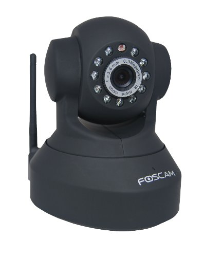 Foscam FI8918W Wireless/Wired Pan & Tilt IP/Network Camera with 8 Meter Night Vision and 3.6mm Lens (67° Viewing Angle)