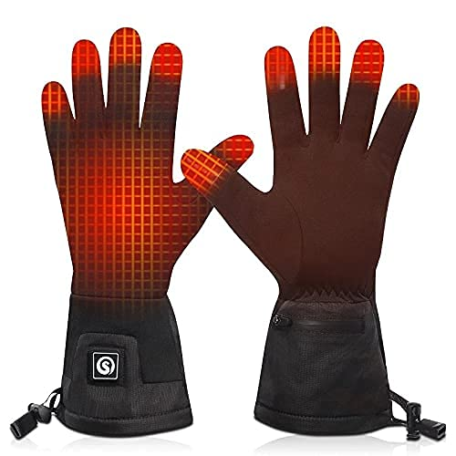 QMJHHW Winter Heated Gloves Electric Women Men Thermal Gloves for Outdoor Sports Cycling Hand Warmers with 3-Level Heat Settings