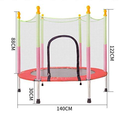 HEWEI Mini Trampolino Indoor per Bambini Trampolino Jumpking con Rete di Protezione per Pad di Sicurezza trampolini ricreativi per Bambini Peso Massimo 330 lbs