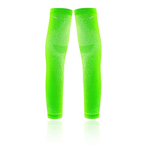 Nike - Powerarmbänder in electric green/silver, Größe L-XL