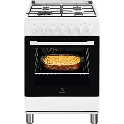 Electrolux LKK620000W - Cucina a gas con fono elettrico 60x60 cm Bianco