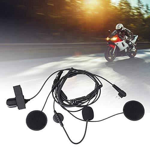 FOLOSAFENAR Auricular Micrófono Auricular Fácil de Llevar Micrófono PTT Negro Impermeable Portátil Conveniente, para Motorola, para Motorola Spirit, para Blackbox Series