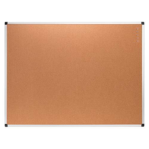 Amazon Basics - Tablón de corcho, 91,4 x 121,9 cm, bastidor de aluminio